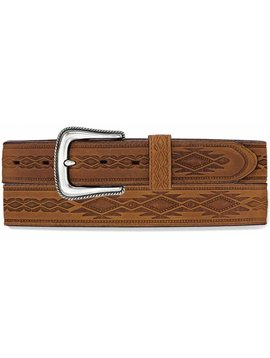 Leegin Men's Brown Navajo Blanket Tooled Belt 1369L