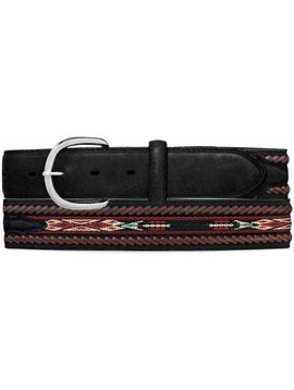 Leegin Men's Lace Edge Ribbon Belt 5A103