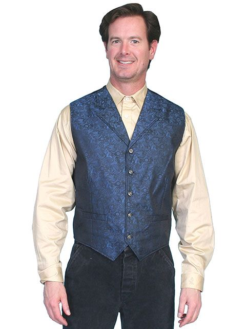 Scully Men's Paisley Old West Vest RW164