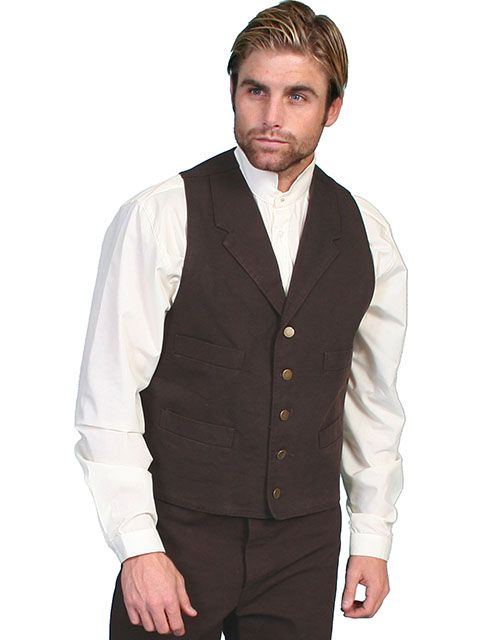 Scully Men's Canvas Vest RW041
