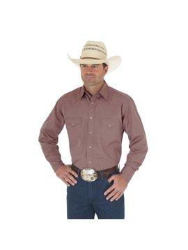 Wrangler Men's Tan Tone on Tone L/S Shirt 75742TN