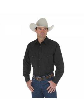 Wrangler Men's  Black Tone on Tone L/S Shirt 75214BK