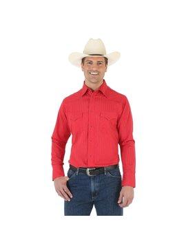 Wrangler Men's Red Tone/Tone L/S Shirt 75746RD
