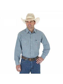 Wrangler Men's  Long Sleeve Chambrey Work Shirt MS70919