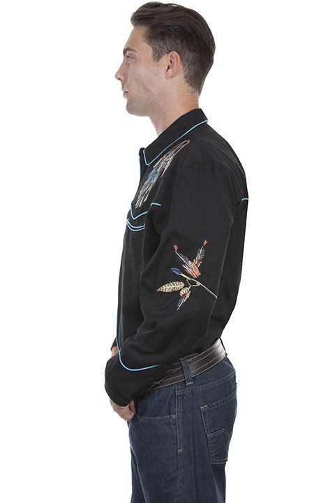 Scully Men's  Dreamcatcher Retro Long Sleeve Shirt P-868
