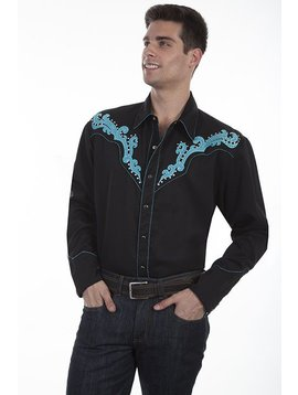 Scully Men's  Retro Long Sleeve Shirt P-837