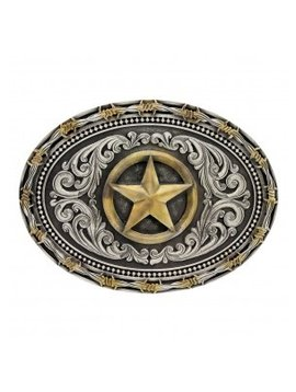 Montana Silversmith Barb Wire Texas Star Buckle A530