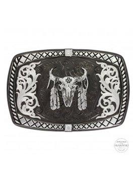 Montana Silversmith Buffalo Skull Aztec Buckle 35510SB-447