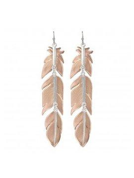 Montana Silversmith ER1618RGD Montana Feather Dangle Earring