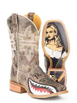 """Tin Haul 14-020-0007-0002TA  Men's """"Gnarly Shark"""" Boot"""