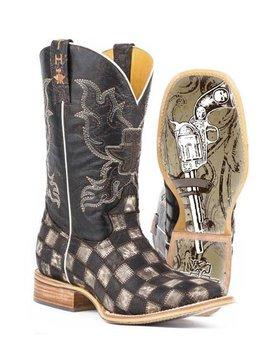 "Tin Haul 14-020-0007-0206BR  Men's ""Gunmetal Check"" Boot"