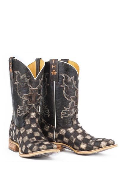 "Tin Haul 14-020-0007-0206BR  Men's ""Gunmetal Check"" Boot"