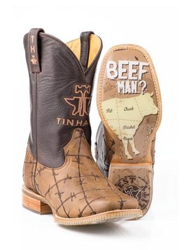 """Tin Haul 14-020-0007-0081BR   Men's """"Don't Fence Me In""""  Boot"""