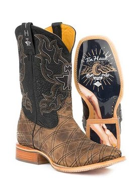 """Tin Haul 14-020-0007-0332TA   Men's """"What's Your Angle""""  Boot"""