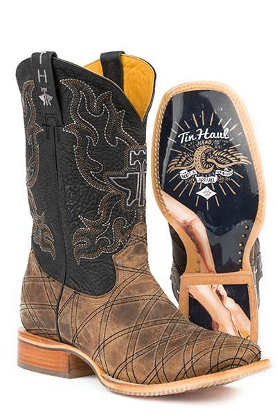 "Tin Haul 14-020-0007-0332TA   Men's ""What's Your Angle""  Boot"