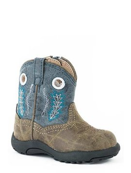 """Roper 09-016-1222-2001BU  Infant """"Hole In The Wall"""" Cowbabies Boot"""