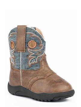 """Roper 09-016-1224-2201BR  Infant """"Daniel"""" Cowbabies  Boot"""
