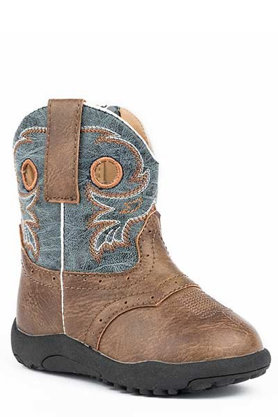 "Roper 09-016-1224-2201BR  Infant ""Daniel""  Cowbabies Boot"