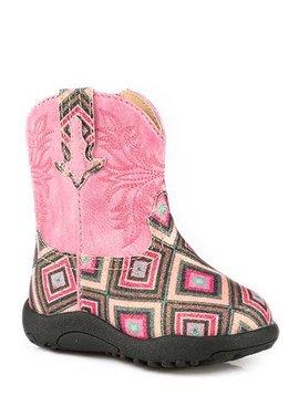 "Roper 09-016-1225-2004PI Infant ""Glitter Gal"" Cowbabies Boot"