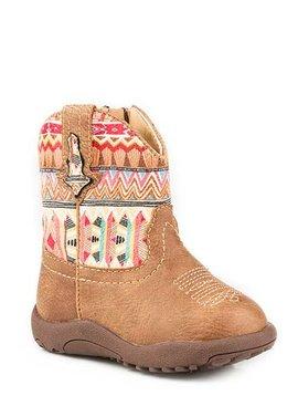 """Roper 09-016-1226-2032TA  Infant """"Azteca""""Cowbabies Boot"""