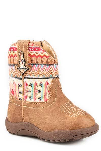 """Roper 09-016-1226-2032TA Infant """"Azteca"""" Cowbabies Boot"""