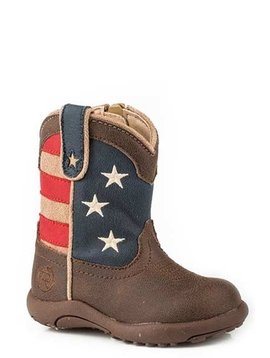 "Roper 09-016-1902-0380BR Infant ""American Patriot"" Cowbabies  Boot"