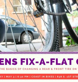 Womens' Fix-a-Flat Clinic 5/3/18 6:30 PM