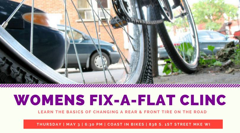 Womens' Fix-a-Flat Clinic 5/3/18 6:30 PM