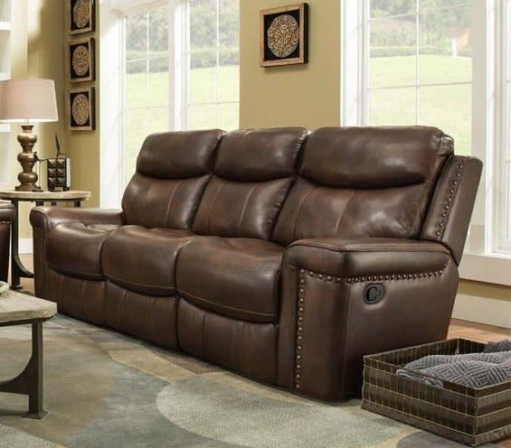 Corinthian Softie Driftwood Motion Sofa RB Furniture