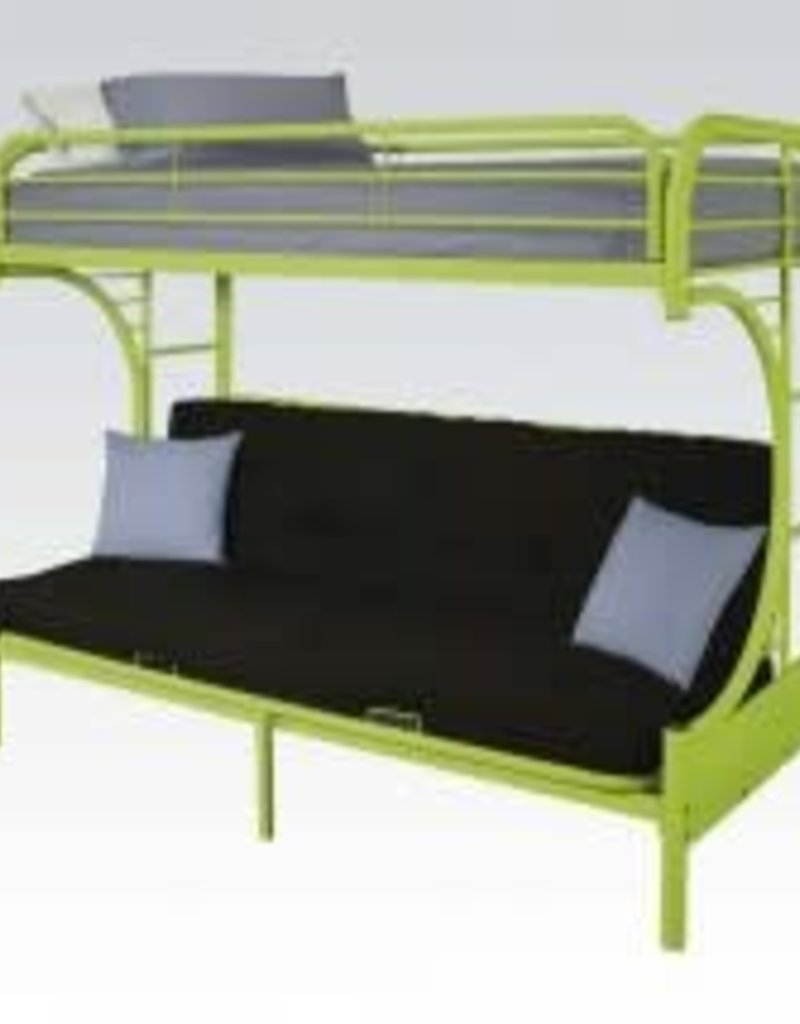 Acme Twin Futon Metal Bunkbed Green
