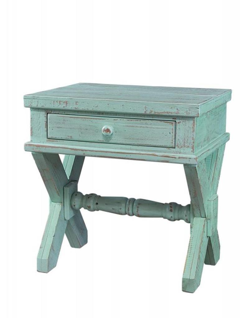 Charmant MYCO Xavier End Table Green Aqua