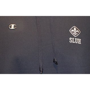 Champion Champion Navy SLUH Logo Hooded Sweatshirt