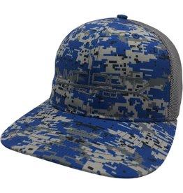 Richardson Digital Camo Snapback- Navy Blue