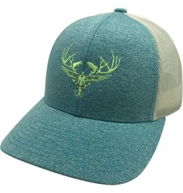 Richardson LOGO Snapbacks Heather Green/ Tan Mesh