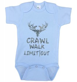 "Onesies "" Crawl, Walk, Limit Out"""