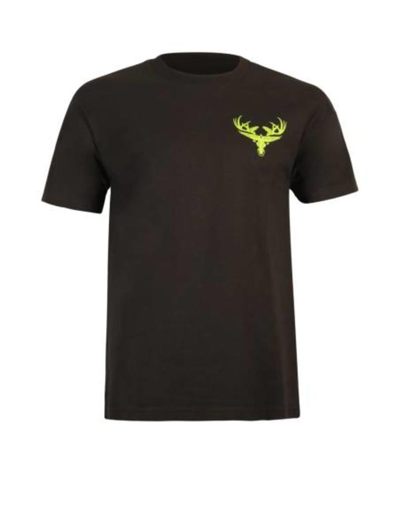 Black & Chartreuse Cotton T