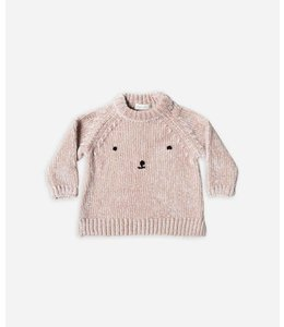 Rylee + Cru Rylee + Cru Bear Face Sweater