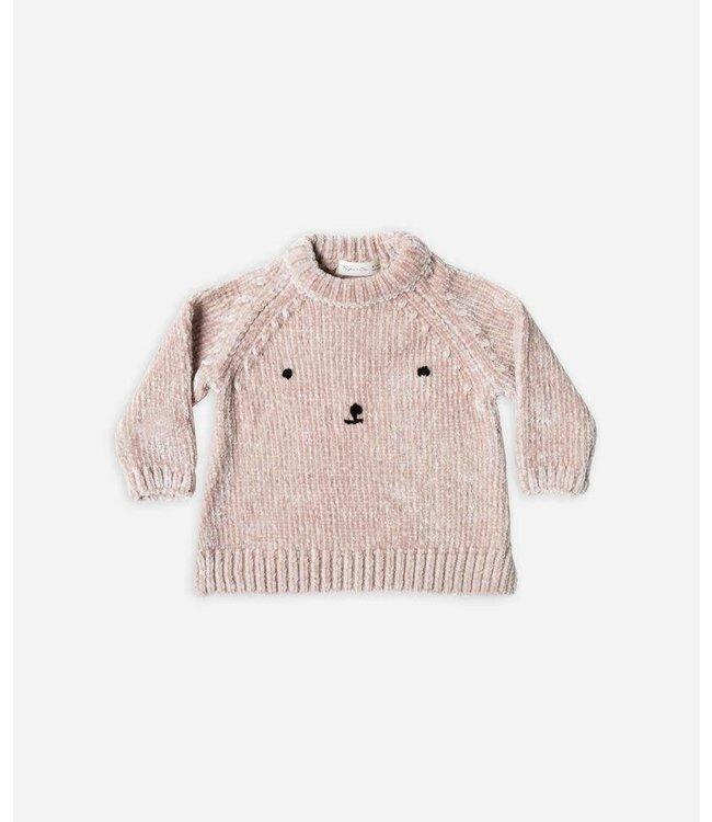 Rylee + Cru Rylee + Cru Bear Face Sweater