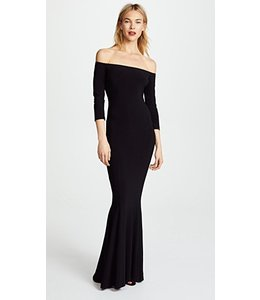 Norma Kamali Norma Kamali Off Shoulder Gown