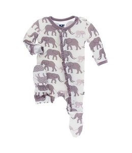 KicKee Pants Kickee Pants Natural Elephant Zip Sleeper