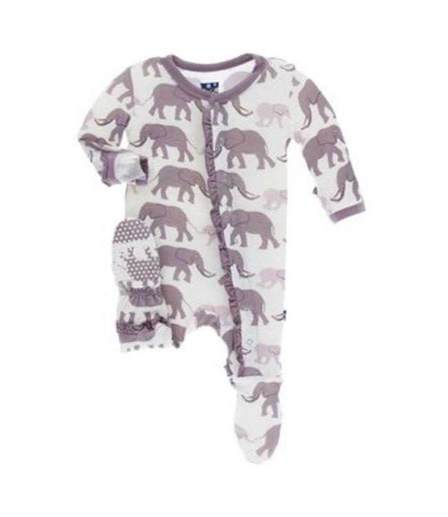 KicKee Pants Kickee Pants Natural Elephant Zip Sleeper