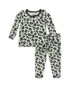 KicKee Pants Kickee Pants Suede Cheeta PJ Set's