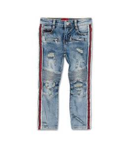 HAUS OF JR HAUS OF JR Clayton Striped Biker Denim