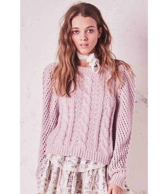 Love Shack Fancy Love Shack Fancy Cabled Rosie Sweater
