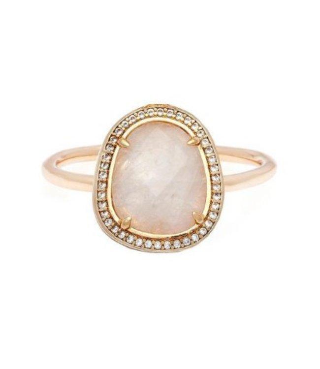 Melanie Auld Melanie Auld Stone Slice Ring-Gold/Moonstone