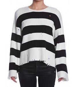 SEN SEN Courageous Sweater- Black/White