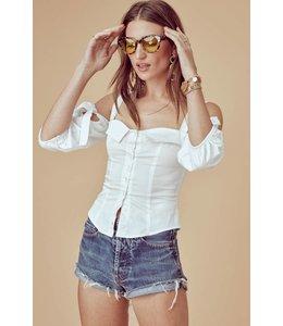 For Love & Lemons For Love & Lemons Vera Tailored Blouse