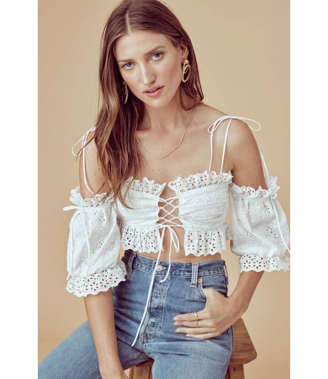For Love & Lemons For Love & Lemons Anabelle Eyelet Crop