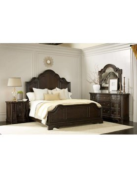 ART Furniture 402135QCS-2107DISC ART Bella Queen Bed Malbec 5PC Set(QB,D,M,2N)CLEARANCE