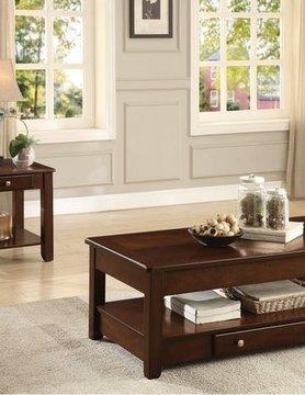 Top Line Furniture HE 3256RF-30&04 Top Line  2PC Ckt/End table Set